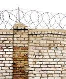 колючий провод стены стоковое изображение rf