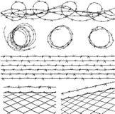 колючий провод элементов иллюстрация штока