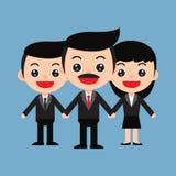 команда ฺBusiness работников и босса в милом стиле шаржа Стоковые Фотографии RF