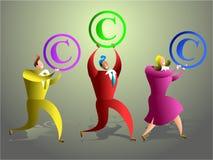 команда авторского права Стоковое Фото