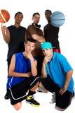 команда баскетбола межрасовая Стоковое Изображение