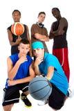 команда баскетбола межрасовая Стоковое фото RF