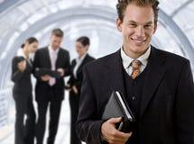 команда бизнесмена дела ведущая стоковое изображение