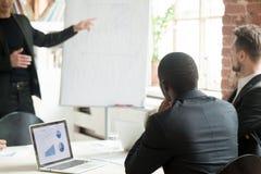 Команда бизнесменов слушая к лекции по дела во время briefin Стоковая Фотография RF