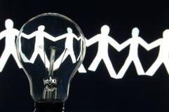 команда бумаги человека шарика Стоковые Фото