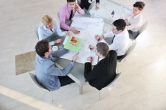 Команда дела архитектора на встрече Стоковые Изображения