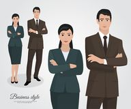 Команда дела бизнес-леди и бизнесмена Стоковое фото RF