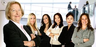 команда дела разнообразная женская Стоковое фото RF