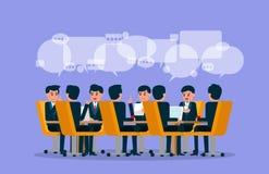 команда деловой встречи Иллюстрация вектора встречи Brainstor иллюстрация штока