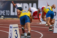 команда европейца чемпионата атлетики Стоковое фото RF