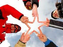 команда звезды перстов Стоковое Изображение RF