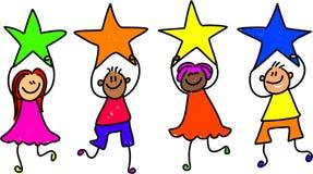 команда звезды Стоковое Изображение