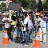 команда камеры действия стоковая фотография