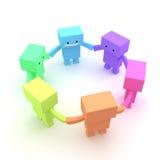 команда круга иллюстрация вектора