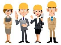 Команда людей на строительной площадке иллюстрация штока