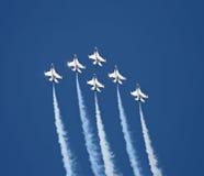 команда образования самолет-истребителя Стоковые Фотографии RF
