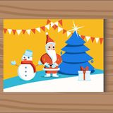 Команда рождества claus santa покрашенный рукой также вектор иллюстрации притяжки corel иллюстрация штока