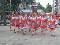 команда сторонниц голландского футбола национальная Стоковые Изображения RF