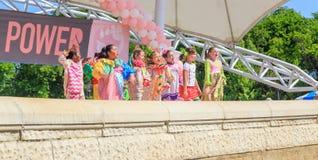Команда танца клоуна Prattville выполняет Стоковая Фотография