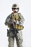 команда тяжёлого удара офицера Стоковое Изображение