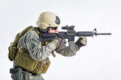 команда тяжёлого удара офицера Стоковые Изображения RF