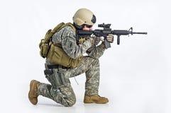 команда тяжёлого удара офицера Стоковое фото RF