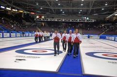 команда 2009 канадская завивая фото членов Стоковые Изображения RF