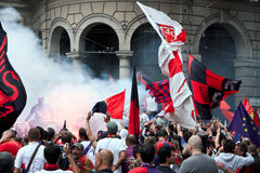 команда genoa футбола торжества Стоковые Изображения RF