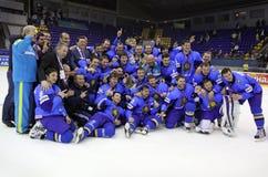 команда kazakhstan льда хоккея Стоковые Изображения