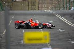 команда marussia автомобиля стоковая фотография
