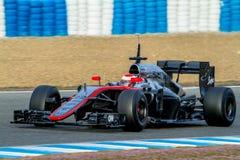 Команда McLaren Honda F1, кнопка Jenson, 2015 стоковое изображение rf