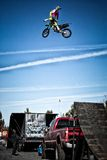 КОМАНДА Moto-X фристайла MX13/METAL MULISHA, загиб, ИЛИ Стоковое фото RF