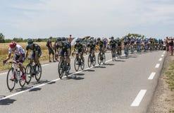 Команда Movistar в Peloton - Тур-де-Франс 2017 Стоковое Фото