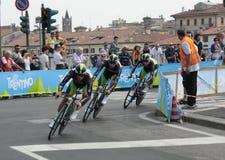 команда orica Италии giro d Стоковое Изображение RF