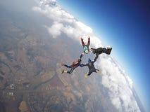 Команда Skydiving Стоковое Изображение
