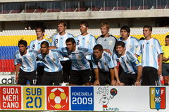команда u20 Аргентины Стоковые Изображения