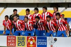 команда u20 Парагвая Стоковое Изображение RF