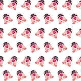 Командос piggy - картина 07 стикера иллюстрация штока