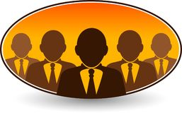 Команды бизнесмен логотип Стоковое Изображение RF