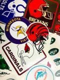 Команды NFL стоковые изображения rf