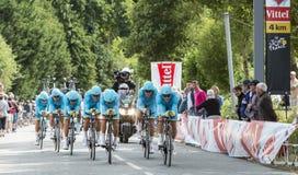 Команда Астана - проба 2015 времени команды Стоковое Изображение