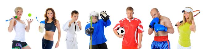 Команда больших спортсменов Стоковые Фотографии RF