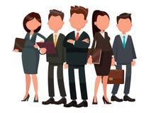 Команда во главе с бизнесменов руководитель Иллюстрация вектора в иллюстрация вектора