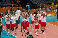 Команда волейбола национальных людей Польши на Rio2016 Стоковые Фото