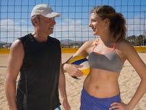Команда волейбола пляжа стоковое изображение rf