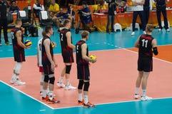 Команда волейбола людей Канады национальная на Rio2016 Стоковые Фото