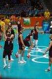 Команда волейбола людей Канады национальная на Rio2016 Стоковое Изображение