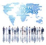 Команда глобального бизнеса Стоковые Фото