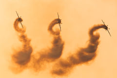 Команда демонстрации высшего пилотажа лезвий Стоковое фото RF