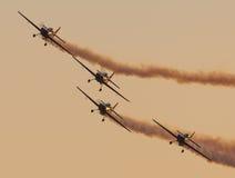 Команда демонстрации высшего пилотажа лезвий Стоковое Фото